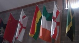 Flags of the world add colour to our main training and conference hall